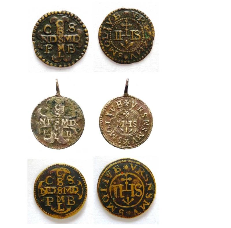 Medalla Inmaculada Concepción / Nomina Sacra IHS (R.M. SXVII-O295) La_asi13