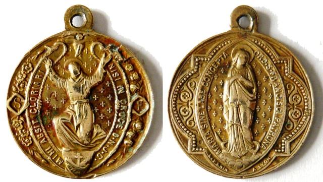 asis - Algunas medallas sobre San Francisco de Asís Sans_t18