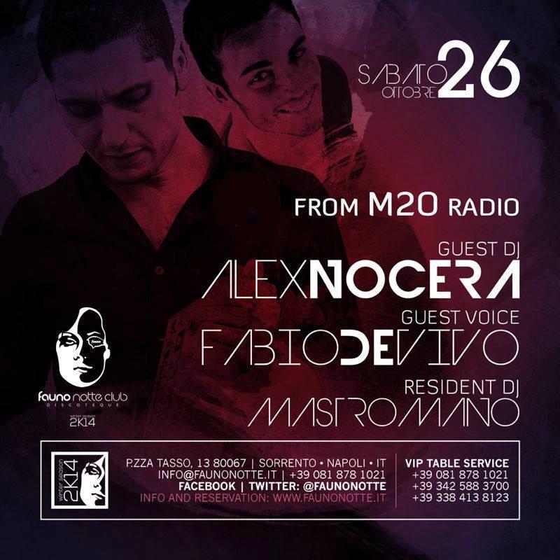 Sabato 26.10 @Fauna notte DiscoClub - Special guest dj ALEX NOCERA & FABIO DE VIVO 13852110