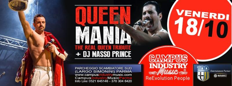 Venerdì 18.10 @Campus Industry - Queen Mania + MassoPrince DJ Show Copert11