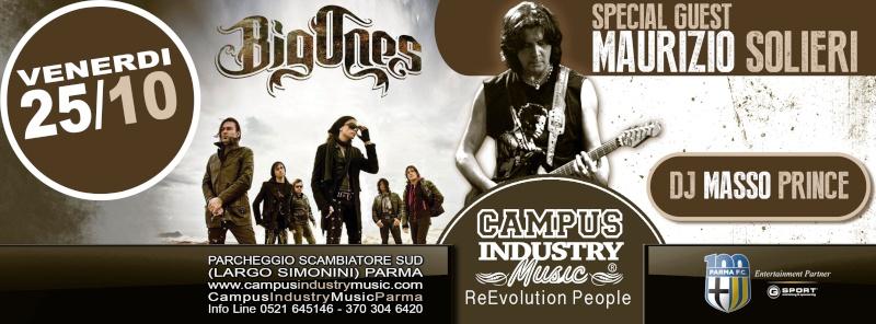 Venerdì 25.10 @Campus Industry - Live BIG ONES + MAURIZIO SOLIERI (Chitarrista Vasco Rossi) Copert12