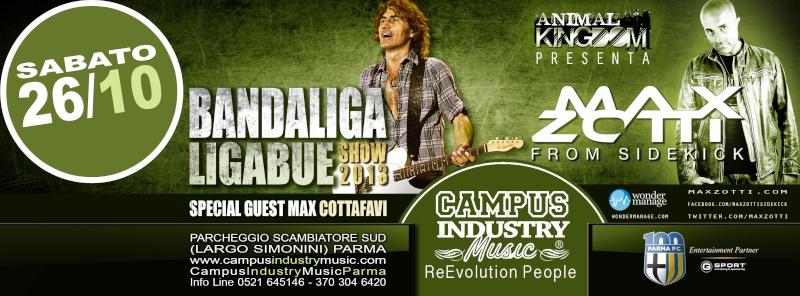 Sabato 26.10 @Campus Industry - Live BANDALIGA + MAX COTTAFAVI + SPECIAL GUEST DJ MAX ZOTTI Copert13