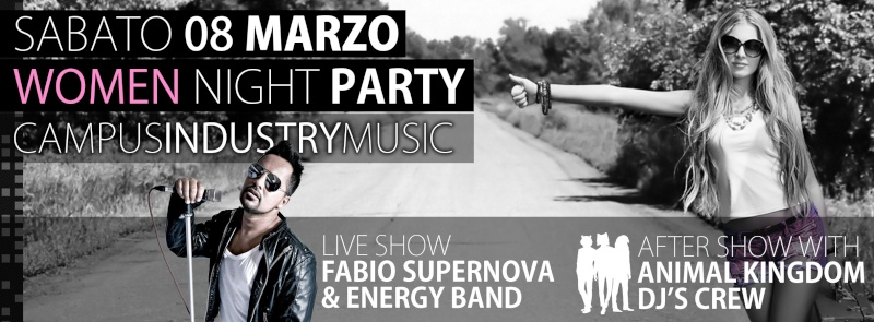 Sabato 08.03 @Campus Industry - Fabio Supernova & Energy Band + Animal Kingdom DJ SHOW Copert22