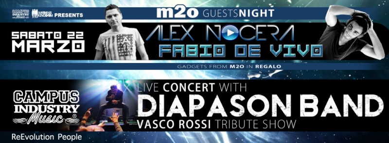 Sabato 22.03 @Campus Industry - DIAPASON BAND (tributo Vasco Rossi) + ALEX NOCERA & FABIO DE VIVO Copert23