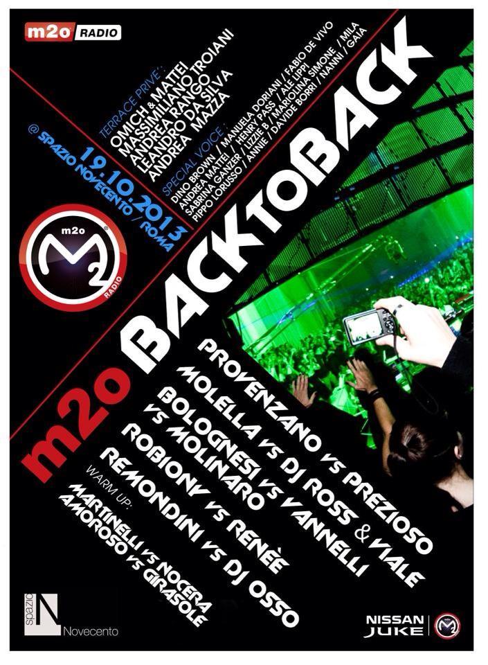 Sabato 19.10 @Spazio900 (Roma) - M2O BackTOBack Facebo11
