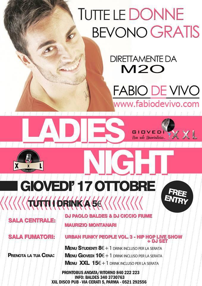 Giovedì 17.10 @XXL (Parma) - Special DJ set FABIO DE VIVO (M2O) Facebo13