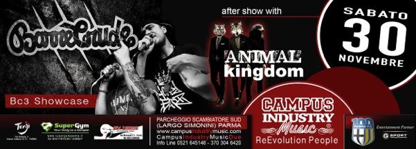 Sabato 30.11 @Campus Industry - BARRACRUDA LIVE + ANIMAL KINGDOM DJ SHOW Flyer_11
