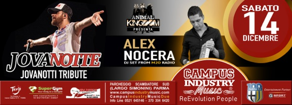 Sabato 14.12 @Campus Industry - JOVANOTTE - Jovanotti Tribute + Special Guest DJ ALEX NOCERA Flyer_15
