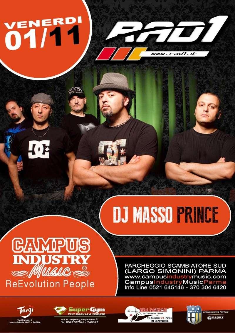 Venerdì 1.11 @Campus Industry - Live Rad 1 & DJ SET MASSO PRINCE Locand10