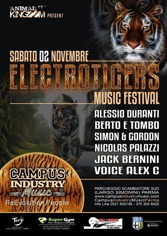 Sabato 2.11 @Campus Industry - ELECTROTIGERS MUSIC FESTIVAL Locand11
