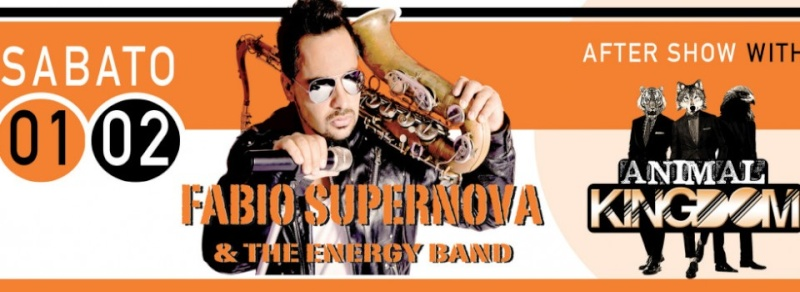 Sabato 01.02 @Campus Industry - FABIO SUPERNOVA & ENERGY BAND LIVE + ANIMAL KINGDOM DJ SHOW Sabat10