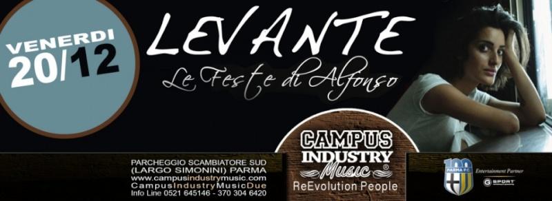 Venerdì 20.12 @Campus Industry - Special Live LEVANTE + Musicanti di Grema + Flerida + After DJ Show Timthu11