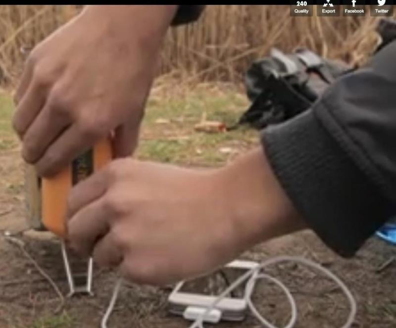 chargeur port USB au feu de bois Charge10