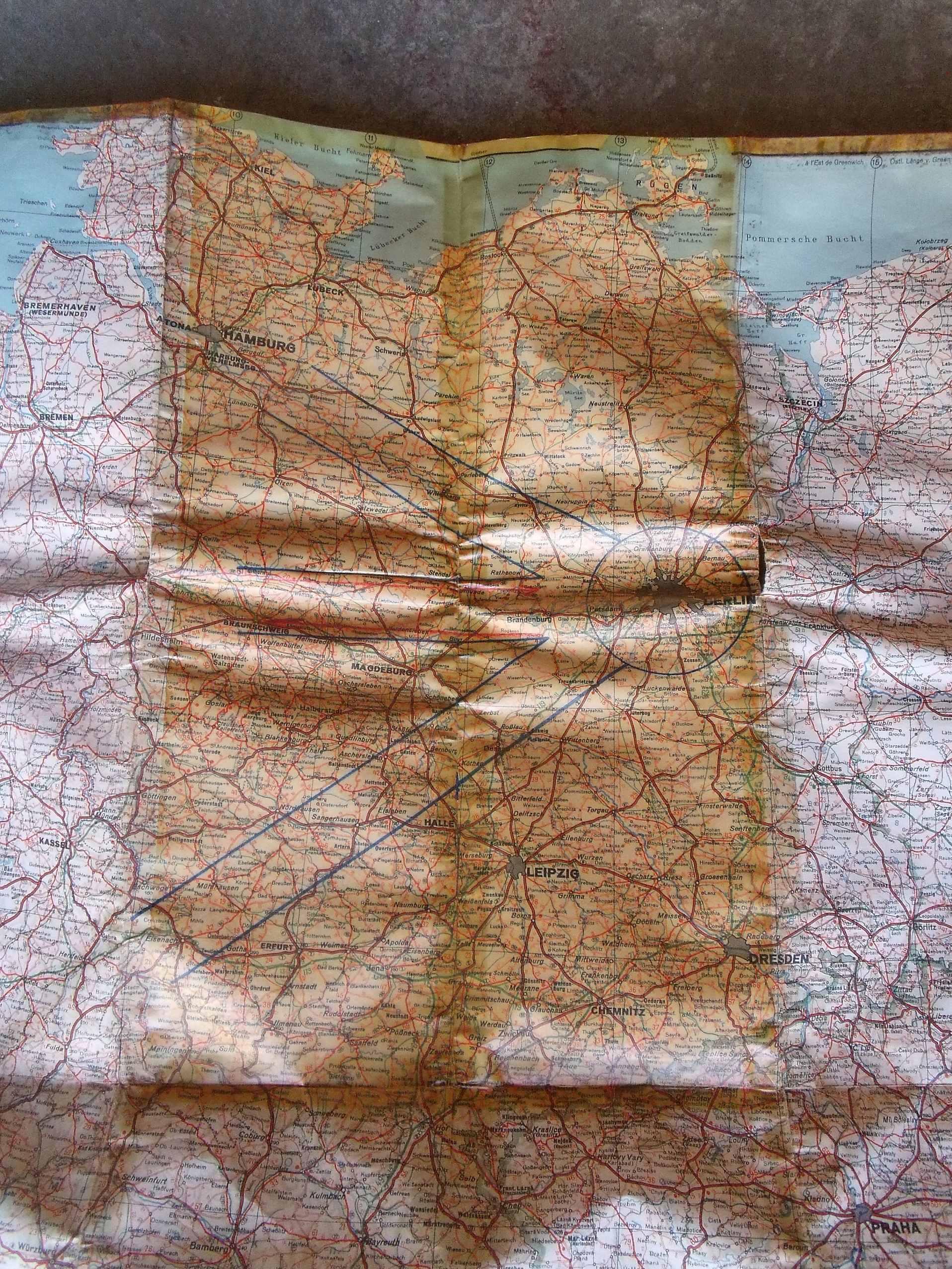 Ariege : rentrée du jour carte aérienne couloir aérien ( blocus de BERLIN)  00211
