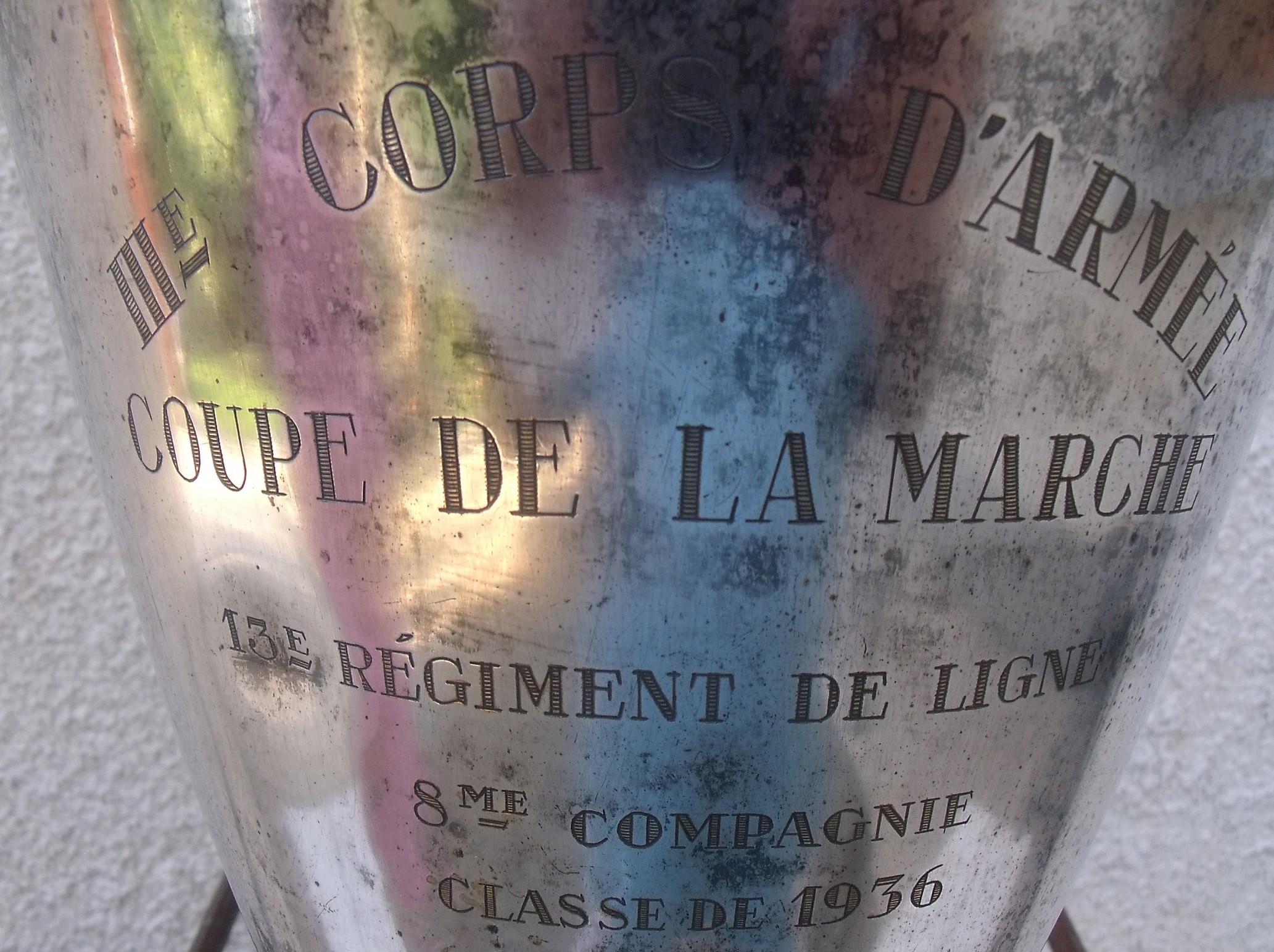 IIIème Corps dArmée coupe de la Marche classe 1936 00215