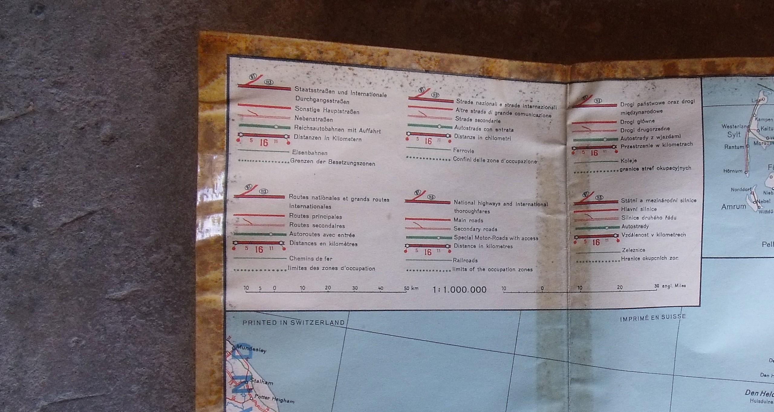 Ariege : rentrée du jour carte aérienne couloir aérien ( blocus de BERLIN)  00310