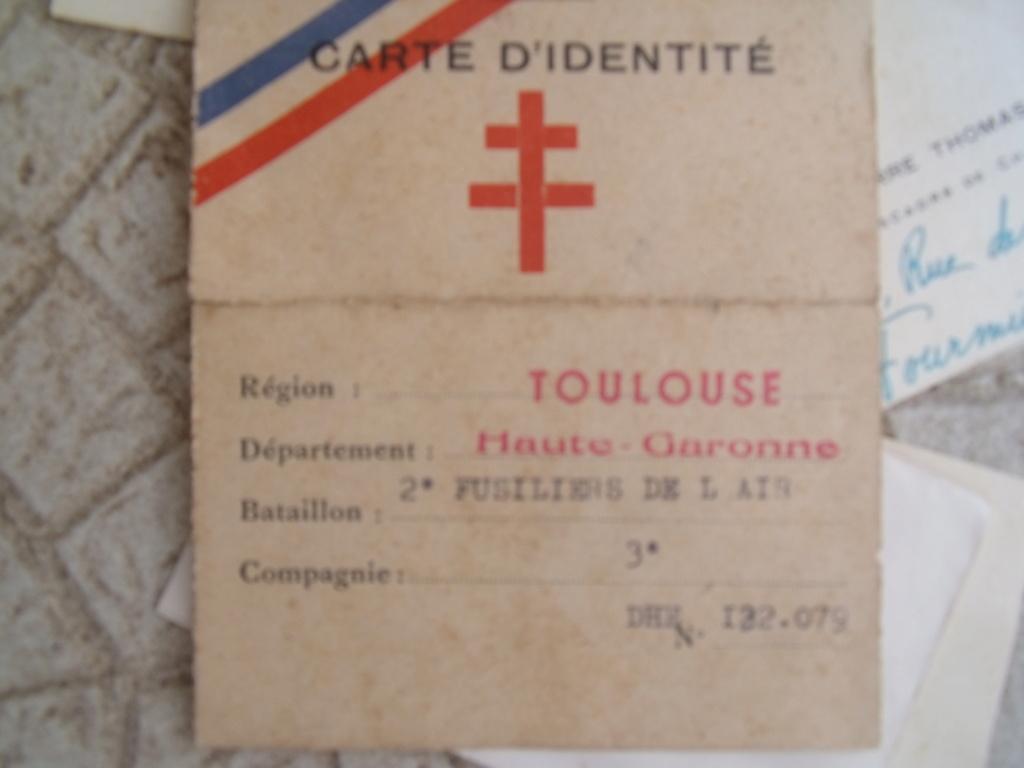 aviateur FFI DE TOULOUSE carte et papiers Dscf7136