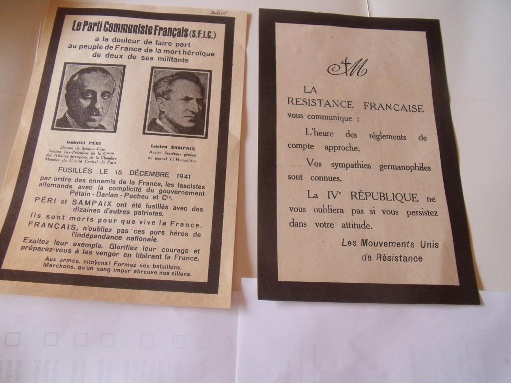 tri solidaire - vieux papiers parti politique photos milice Photo210