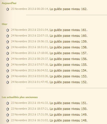 Guilde niveau 100  Xp210