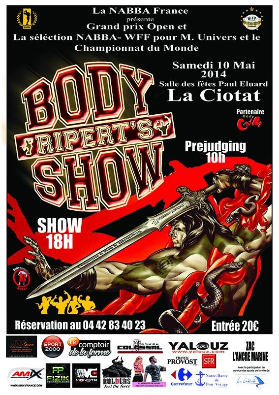 RIPERT'S BODY SHOW 2014 Affich14