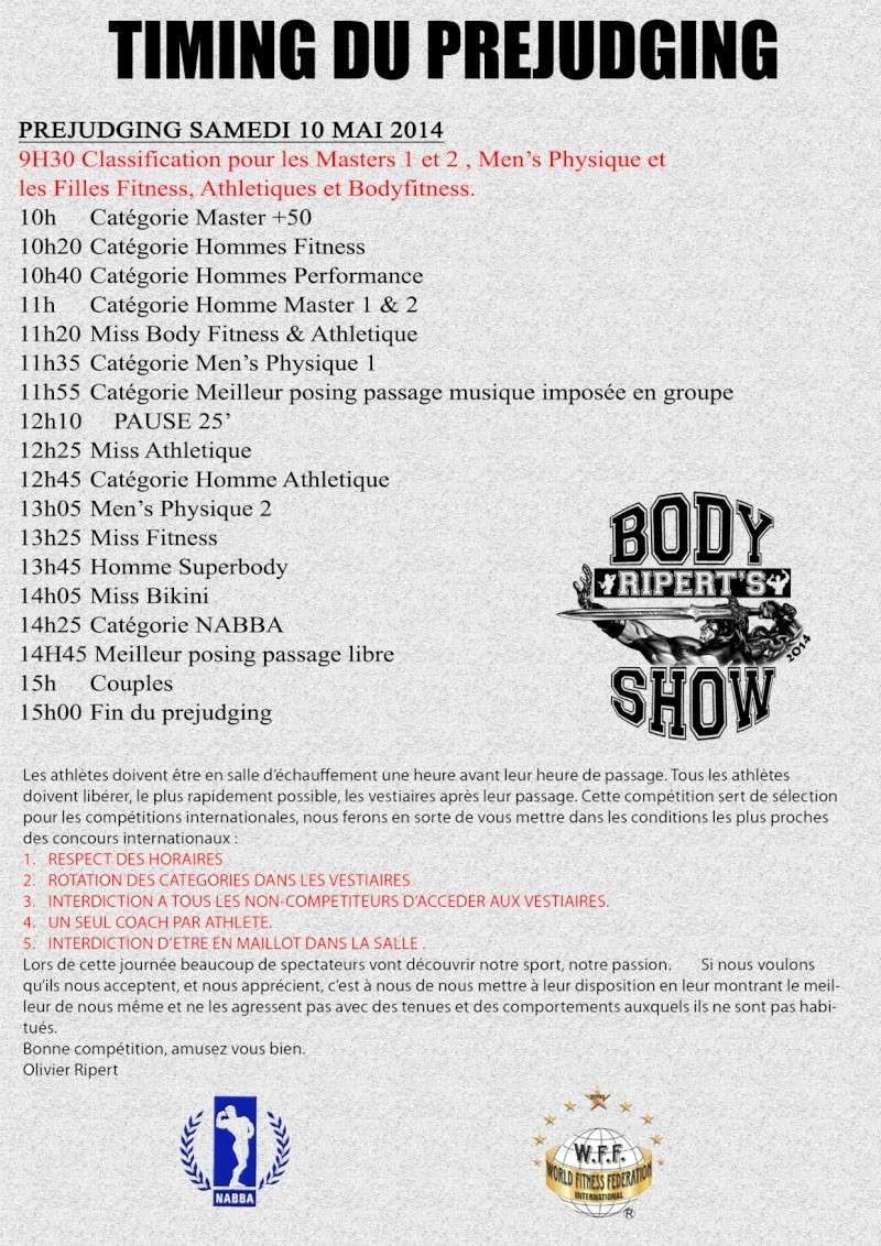 RIPERT'S BODY SHOW 2014 Timing10