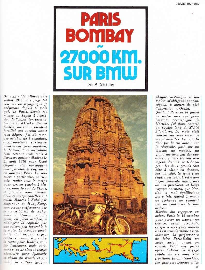 reportage Moto-Revue 1970 : PARIS-BOMBAY, 27000 km en R75/5. 2022_113