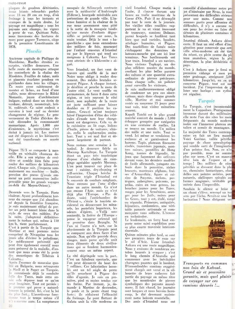 reportage Moto-Revue 1970 : PARIS-BOMBAY, 27000 km en R75/5. 2022_210