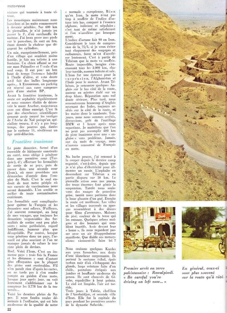 reportage Moto-Revue 1970 : PARIS-BOMBAY, 27000 km en R75/5. 2022_212