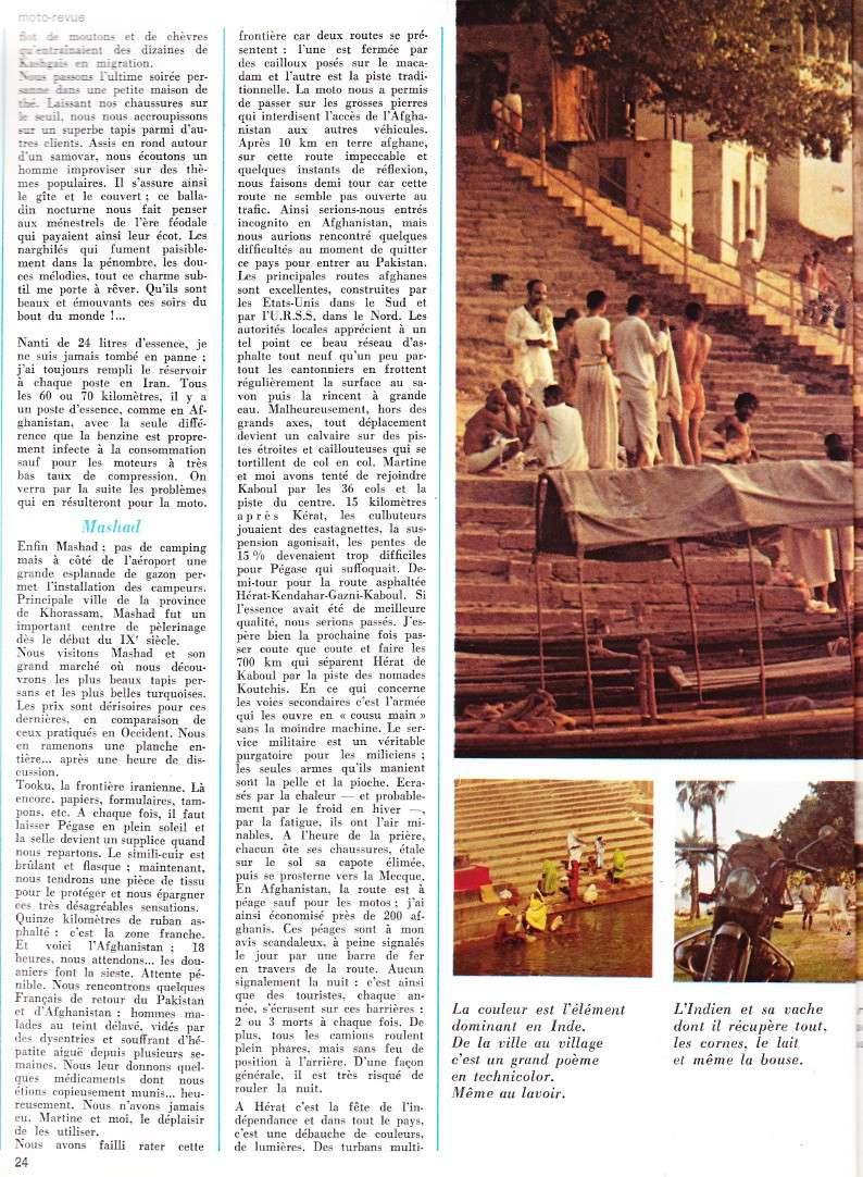 reportage Moto-Revue 1970 : PARIS-BOMBAY, 27000 km en R75/5. 2022_214