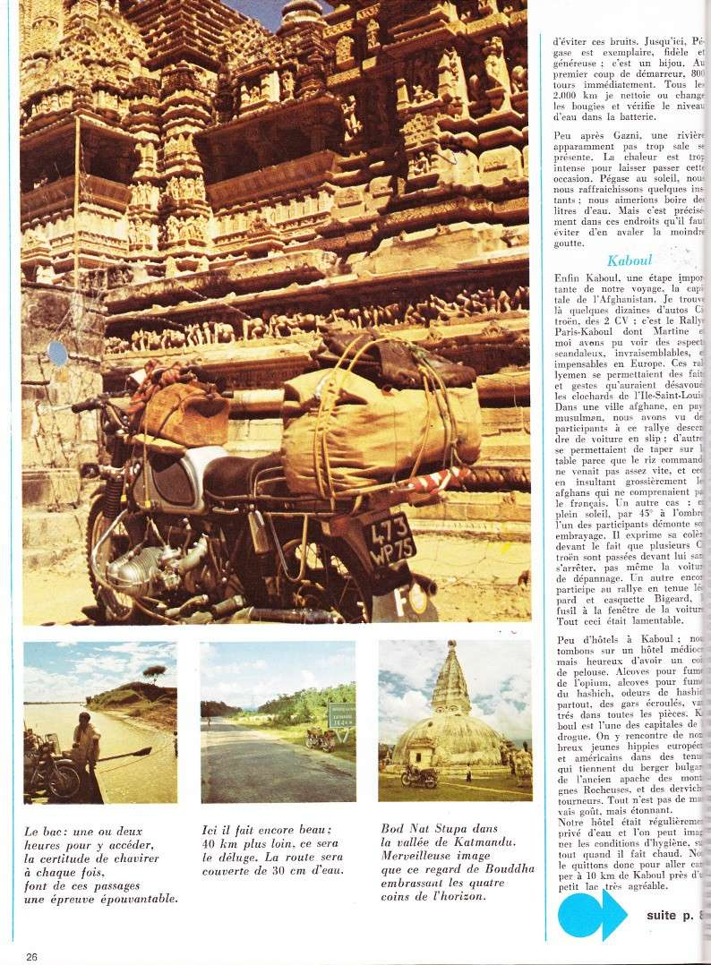 reportage Moto-Revue 1970 : PARIS-BOMBAY, 27000 km en R75/5. 2022_216