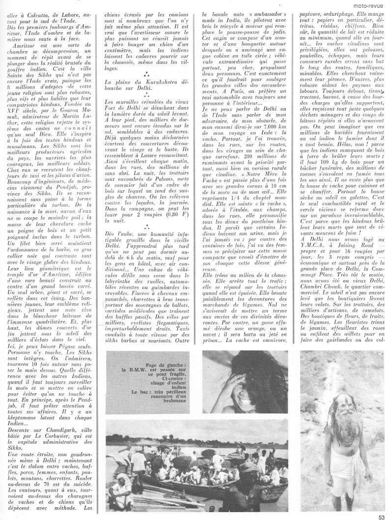 reportage Moto-Revue 1970 : PARIS-BOMBAY, 27000 km en R75/5. 2026_511