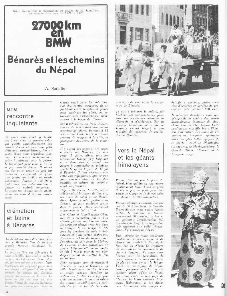 reportage Moto-Revue 1970 : PARIS-BOMBAY, 27000 km en R75/5. 2028_310