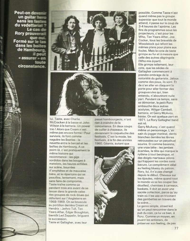 Rory Gallagher dans la presse française Num25c12