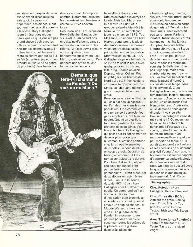 Rory Gallagher dans la presse française Num25c13