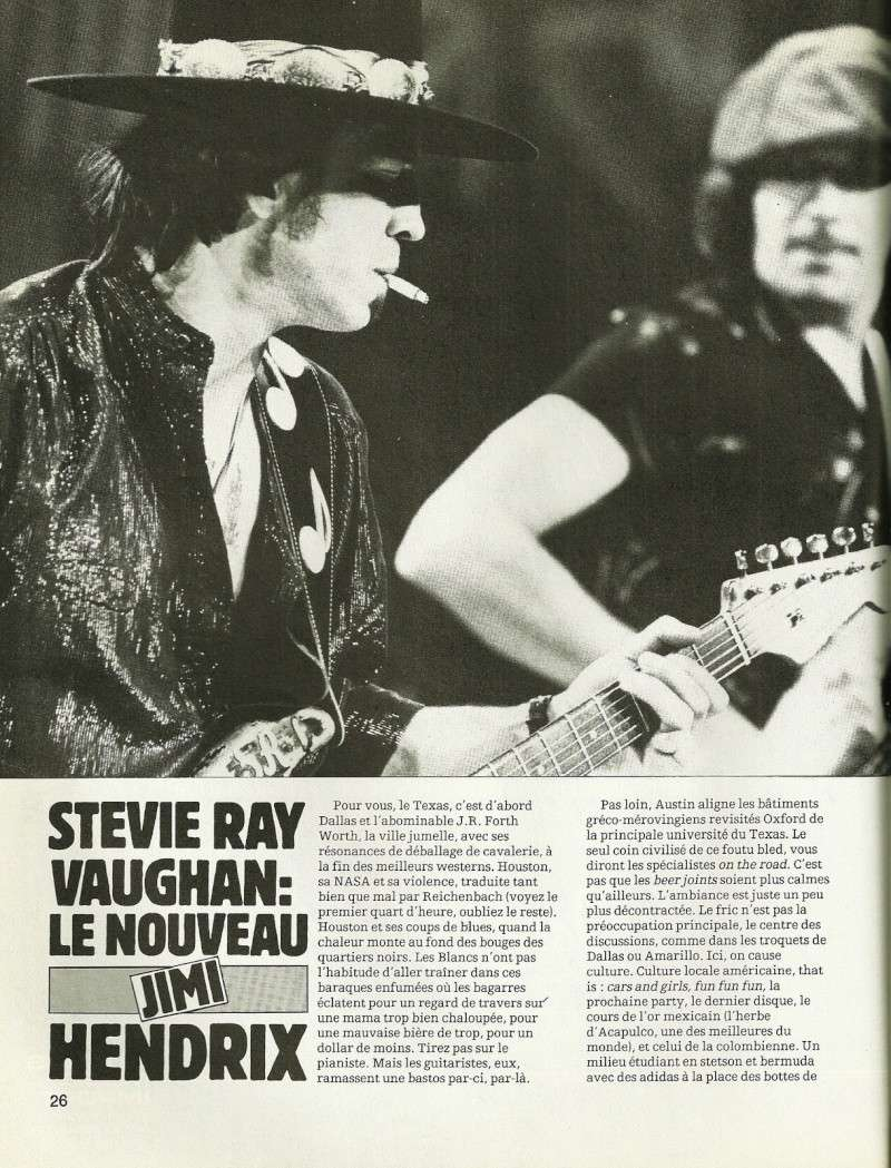"Stevie Ray Vaughan ""Guitare Magazine"" Septembre 1982 Num25c14"