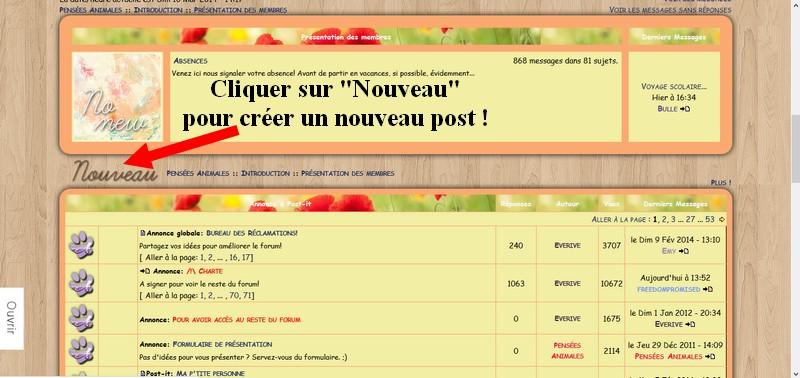 Débuter sur le forum Nouvea10
