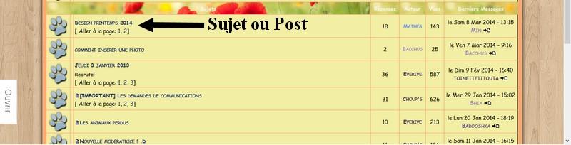 Débuter sur le forum Sujet10