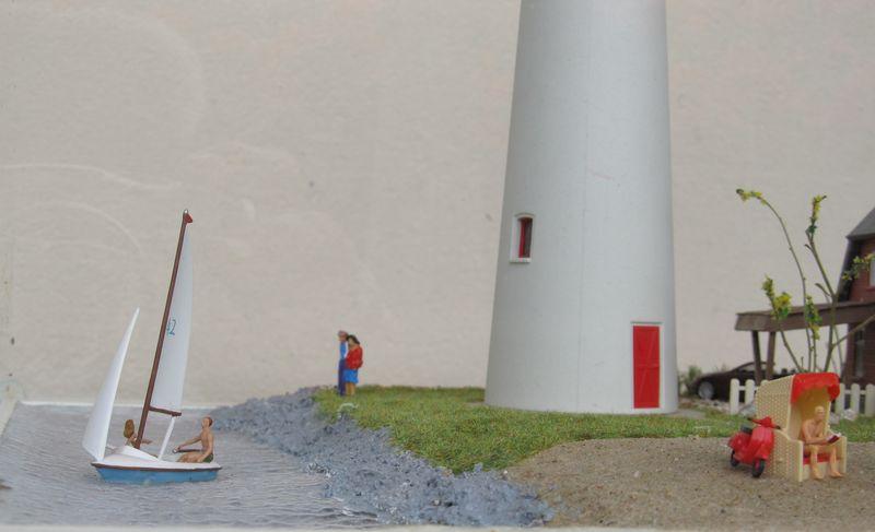 """Leuchtturm """"Hiddensee"""" KIBRI 1:87 FINALE Hidden13"""