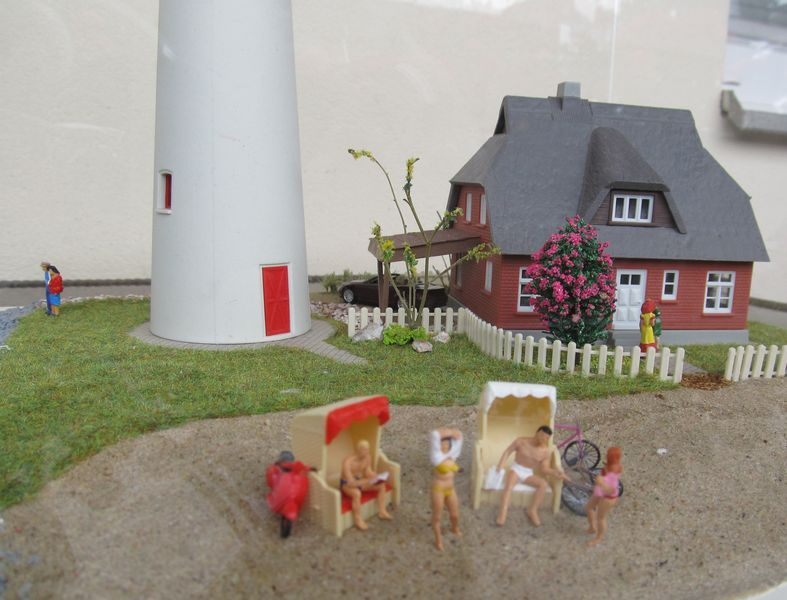 """Leuchtturm """"Hiddensee"""" KIBRI 1:87 FINALE Hidden15"""