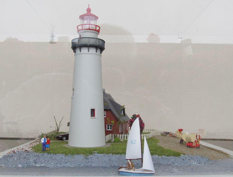 """Leuchtturm """"Hiddensee"""" KIBRI 1:87 FINALE Hidden16"""