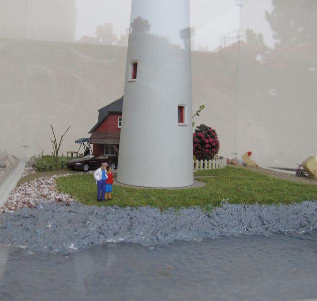 """Leuchtturm """"Hiddensee"""" KIBRI 1:87 FINALE Hidden17"""