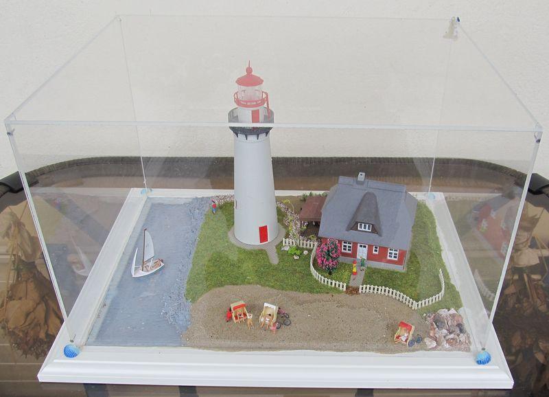 """Leuchtturm """"Hiddensee"""" KIBRI 1:87 FINALE Hidden23"""