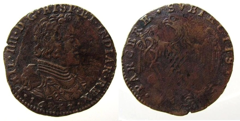 Jetón de Felipe IV. Amberes. 1652. Apoyo a Condé y a los líderes de la Fronda. Img_2211