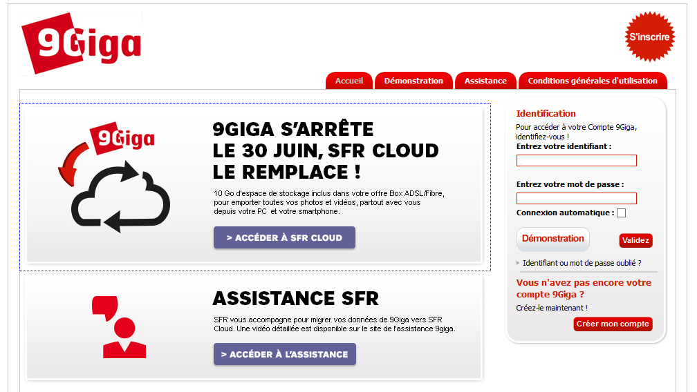 9Giga - SFR Cloud 9gigas10