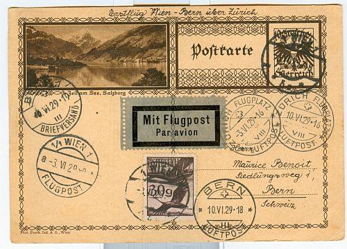 Luftpost,Erstflüge sammeln Bern11
