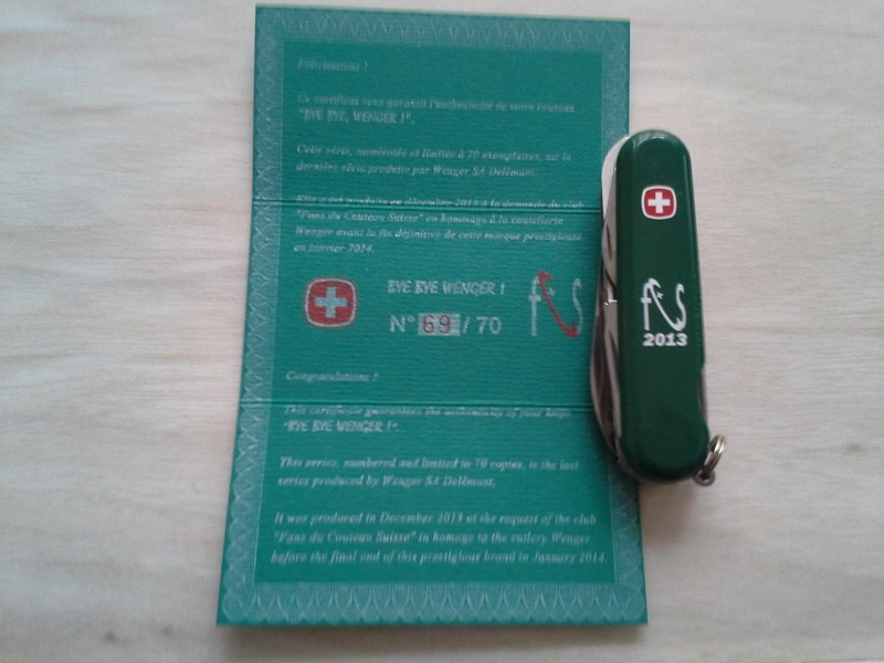 Ma collection Victorinox et wenger. [par Lucke] - Page 4 20140114