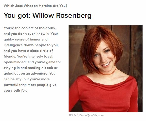 Quel(le) héros/héroïne de Whedon êtes-vous ? Will10