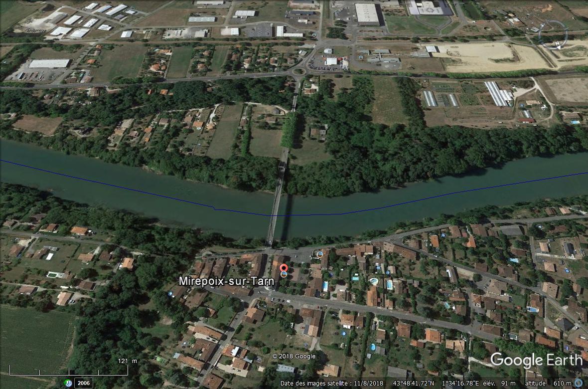 Un pont s'effondre au nord de Toulouse Mirepo10