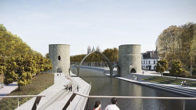Tournai s'apprête à dire adieu à son pont médiéval promis à la destruction Xvm96311