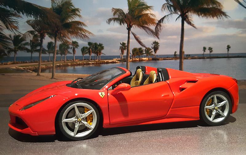 """Ferrari 488 Spider """"Magnum P.i."""" Cfepjs10"""